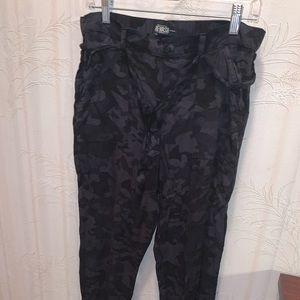 Black Camo jogger pants